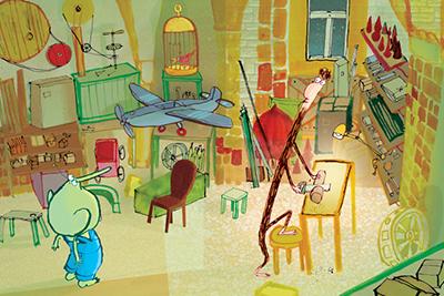 Illustratie uit 'Blitz! Op bol Tien'.