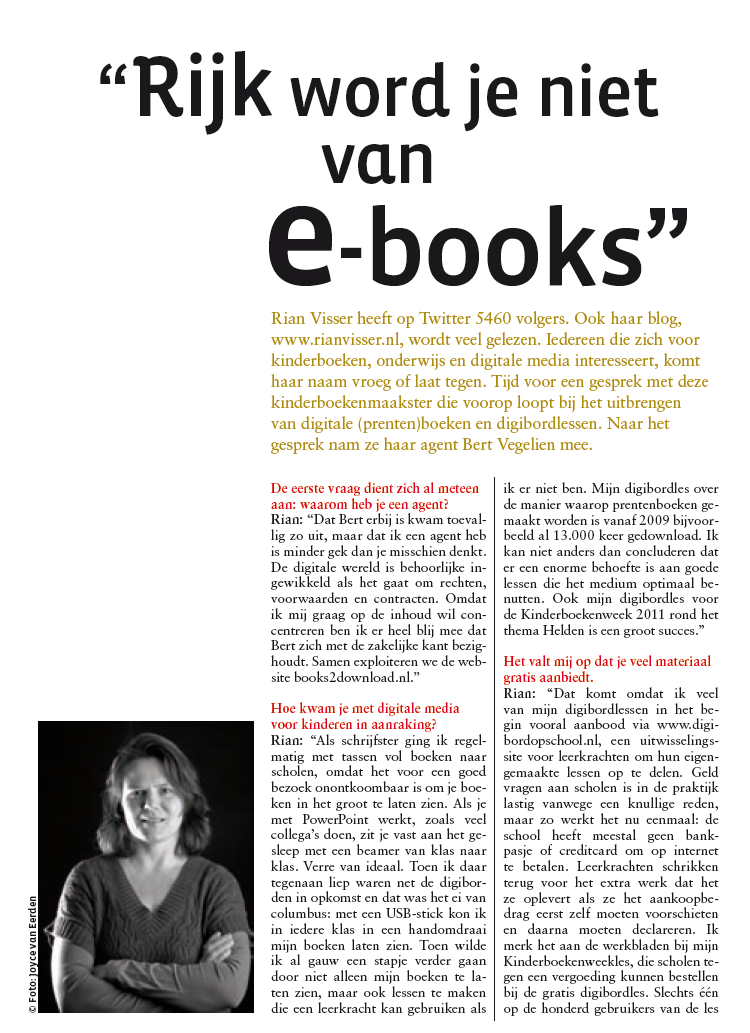 Interview Rian Visser in Leesgoed nr 3 2011