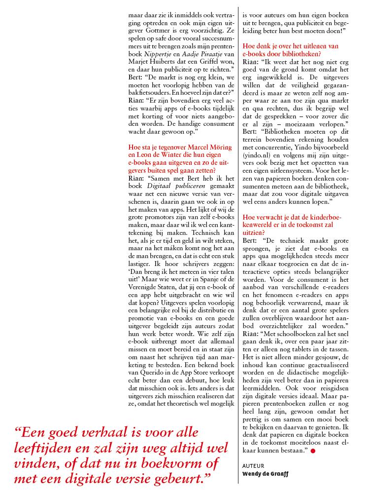 Interview Rian Visser in Leesgoed nr 3 2011