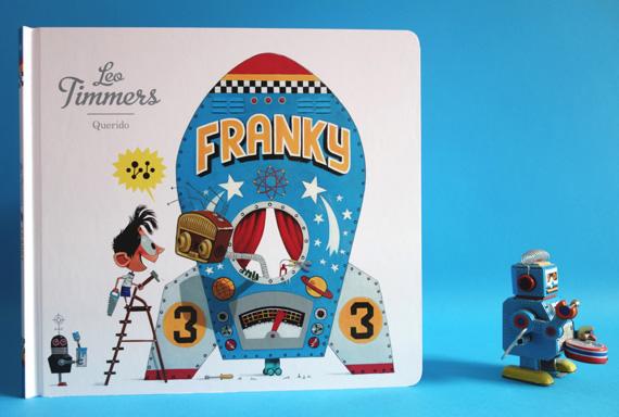 Franky. Tekst en illustraties Leo Timmers, uitgeverij Querido. Verschijnt mei 2015.