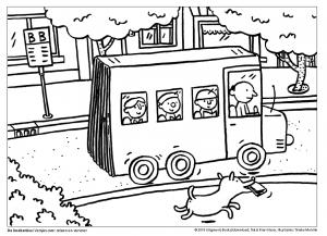 Kleurplaat Bus Met Chauffeur De Boekenbus Is Er Versjes Over Reizen En Vervoer Rian